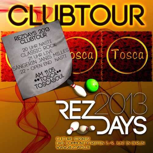 Clubtour im TOSCA
