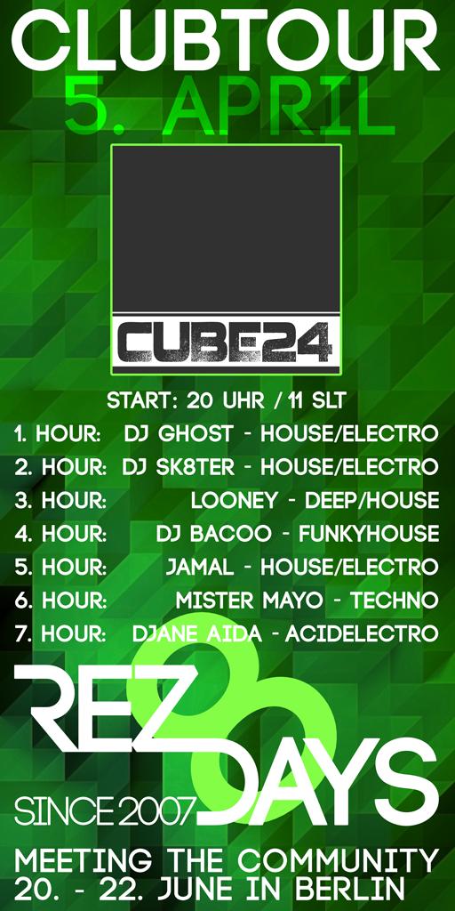Clubtour im CUBE24 Plakat