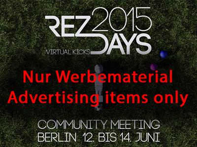 RezDays2015 Werbeausstattung auf SL Marketplace