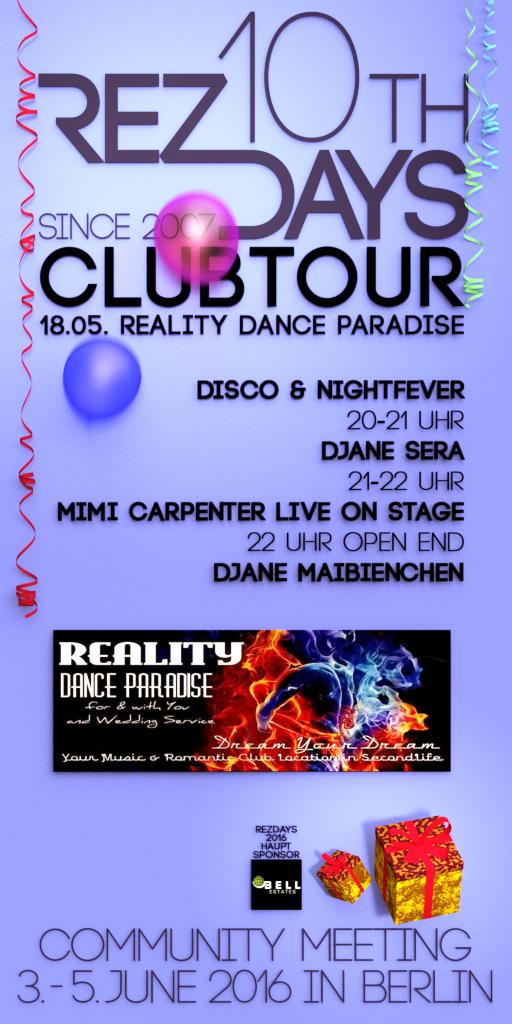 RezDays2016 Clubtour Reality