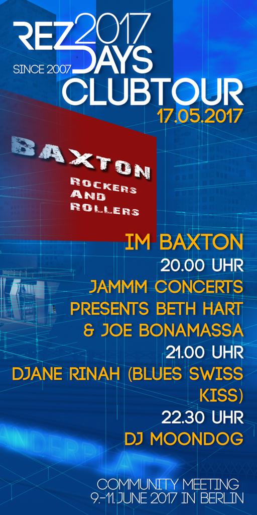 RezDays 2017 Clubtour Baxton
