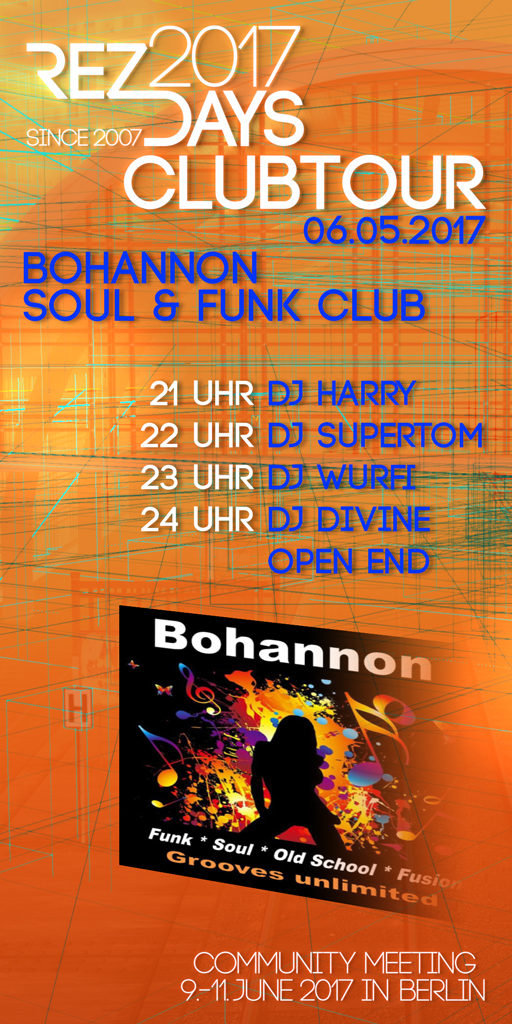 RezDays 2017 Clubtour Bohannon
